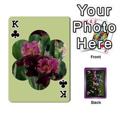 King Iris 54 Design Card Deck Purple By Ellan   Playing Cards 54 Designs   H8ric8u3l2ao   Www Artscow Com Front - ClubK