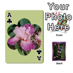 Ace Iris 54 Design Card Deck Purple By Ellan   Playing Cards 54 Designs   H8ric8u3l2ao   Www Artscow Com Front - ClubA