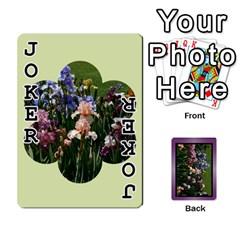 Iris 54 Design Card Deck Purple By Ellan   Playing Cards 54 Designs   H8ric8u3l2ao   Www Artscow Com Front - Joker1