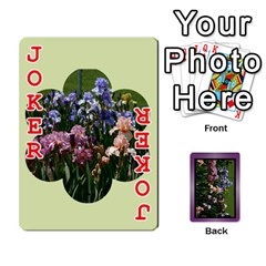 Iris 54 Design Card Deck Purple By Ellan   Playing Cards 54 Designs   H8ric8u3l2ao   Www Artscow Com Front - Joker2