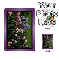 Iris 54 Design Card Deck Purple By Ellan   Playing Cards 54 Designs   H8ric8u3l2ao   Www Artscow Com Back