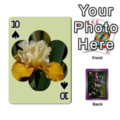 Iris 54 Design Card Deck Purple By Ellan   Playing Cards 54 Designs   H8ric8u3l2ao   Www Artscow Com Front - Spade10