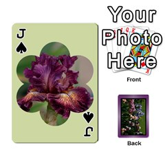 Jack Iris 54 Design Card Deck Purple By Ellan   Playing Cards 54 Designs   H8ric8u3l2ao   Www Artscow Com Front - SpadeJ
