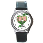 AKA 1908 4 life3 Round Metal Watch