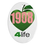 AKA 1908 4 life3 Ornament (Oval)