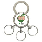 AKA 1908 4 life3 3-Ring Key Chain