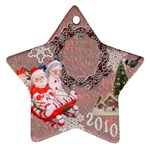 santa mrs sleigh 2010 ornament 32 - Ornament (Star)