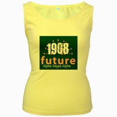 aka 1 future aka Women s Yellow Tank Top from ArtsNow.com Front