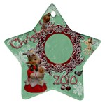 angels w baby 2010 ornament 42 - Ornament (Star)