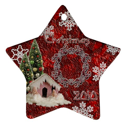 Snow Village 2010 Ornament 58 By Ellan   Ornament (star)   Vkxkmjfgpk1y   Www Artscow Com Front