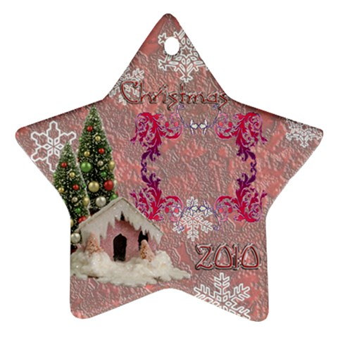 Snow Village 2010 Ornament 61 By Ellan   Ornament (star)   1afb0jfdp0fs   Www Artscow Com Front