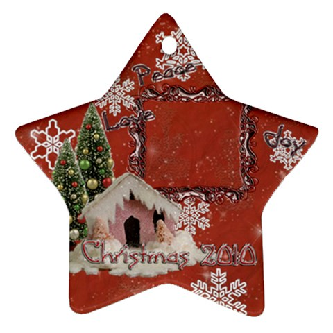 Snow Village Peace Love Joy 2010 Ornament 65 By Ellan   Ornament (star)   Uhh3lga109xm   Www Artscow Com Front