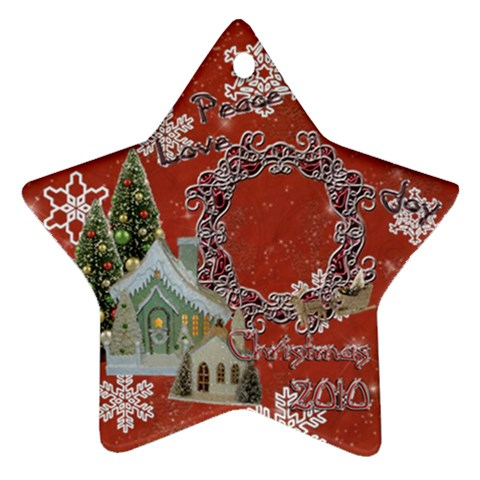 Village Peace Love Joy 2010 Ornament 68 By Ellan   Ornament (star)   Bsacw3ang07r   Www Artscow Com Front