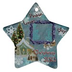 village blue2 peace love joy 2010 ornament 71 - Ornament (Star)