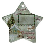 village peace love joy 2010 ornament 74 - Ornament (Star)