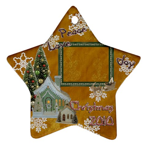 Village Peace Love Joy 2010 Ornament 75 By Ellan   Ornament (star)   Wmq3h6rogu6a   Www Artscow Com Front