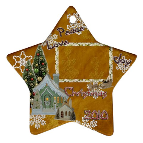 Village Peace Love Joy 2010 Ornament 76 By Ellan   Ornament (star)   Takird8gqr6s   Www Artscow Com Front