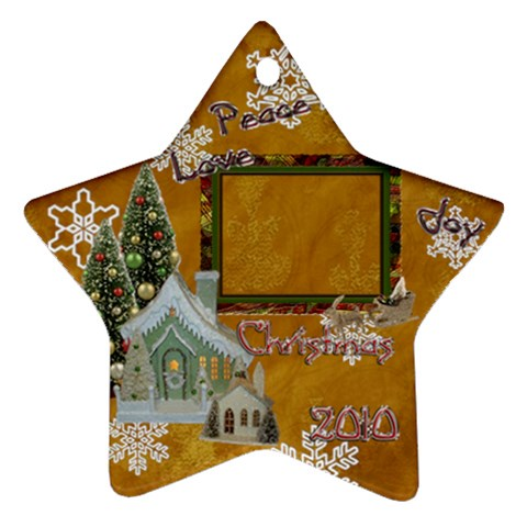 Village Peace Love Joy 2010 Ornament 77 By Ellan   Ornament (star)   Firq5dxk8u3b   Www Artscow Com Front