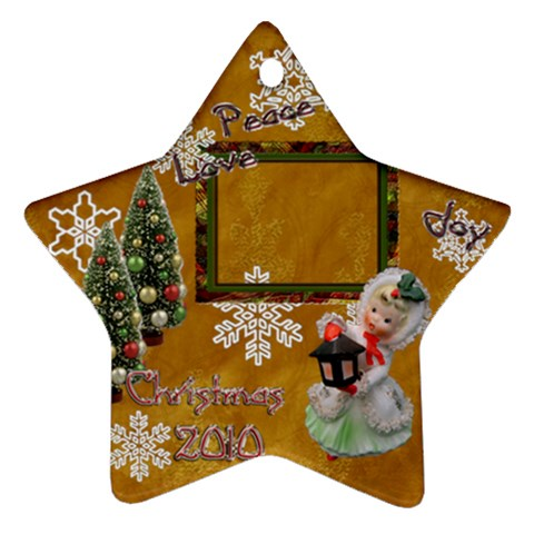 Lantern  Peace Love Joy 2010 Ornament 78 By Ellan   Ornament (star)   D7qpocanwjfl   Www Artscow Com Front