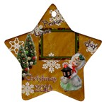 lantern  peace love joy 2010 ornament 78 - Ornament (Star)