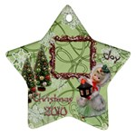 lantern girl 2010 ornament 83 - Ornament (Star)