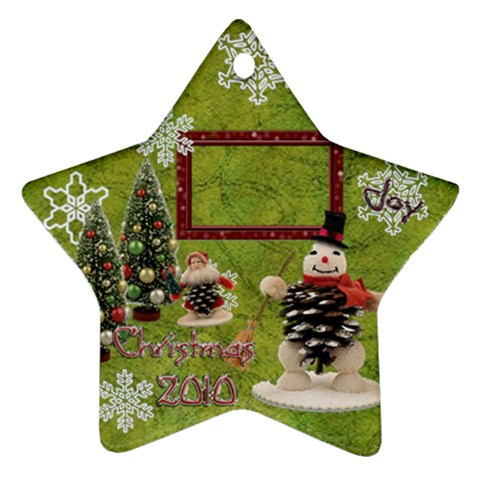 Snowman 2010 Ornament 92 By Ellan   Ornament (star)   Cbl8zywd9wwj   Www Artscow Com Front