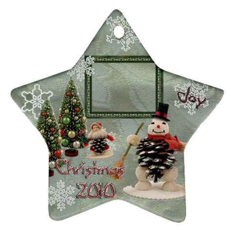 Snowman 2010 Ornament 94 By Ellan   Ornament (star)   Ektm1kw9s6gb   Www Artscow Com Front