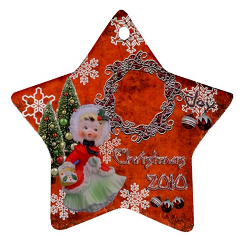 Basket Girl 2010 Ornament 102 By Ellan   Ornament (star)   3dxeh7thfx7v   Www Artscow Com Front