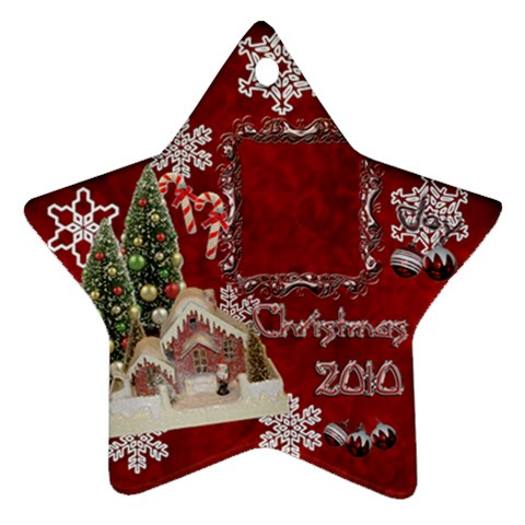 Village Candy Cane 2010 Ornament 105 By Ellan   Ornament (star)   A3ynx1ugtpk1   Www Artscow Com Front