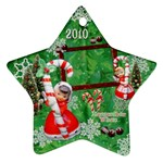 angel candy cane 2010 ornament 119 - Ornament (Star)