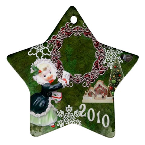 Thank You Mail 2010 Ornament  124 By Ellan   Ornament (star)   1g6q72mduaoq   Www Artscow Com Front