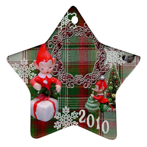 Elf Elves 2010 Ornament  126 By Ellan   Ornament (star)   22fo588250i4   Www Artscow Com Front