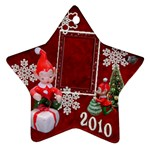 elf elves 2010 ornament  127 - Ornament (Star)