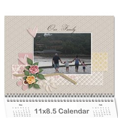 Calendar Template  Our Family By Jennyl   Wall Calendar 11  X 8 5  (12 Months)   Spq193bty4rx   Www Artscow Com Cover