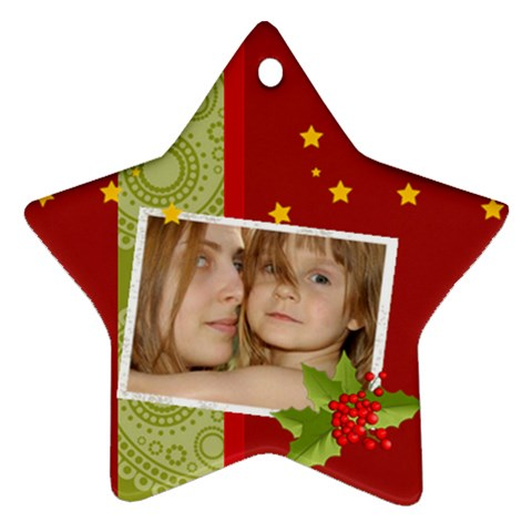 Xmas Star By Wood Johnson   Ornament (star)   30dtpn037ju2   Www Artscow Com Front