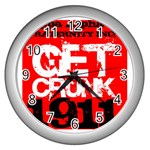 kappa -photo-5 www.psixi.ws Wall Clock (Silver)
