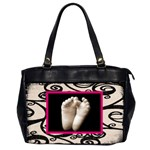 fantasia pink frame black & beige oversized handbag - Oversize Office Handbag (Two Sides)