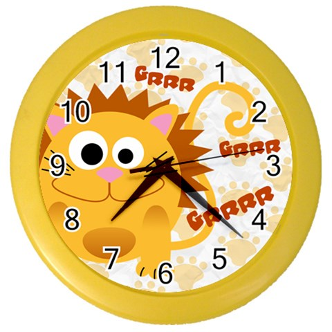 Animaland Clock 03 By Carol   Color Wall Clock   2jjdtbvuzojt   Www Artscow Com Front