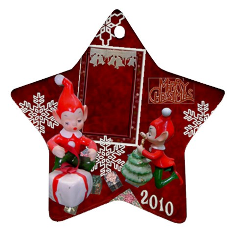 Elf Elves Bells 2010 Ornament  129 By Ellan   Ornament (star)   63trtetlkoo8   Www Artscow Com Front