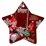 elf elves bells 2010 ornament  129 - Ornament (Star)
