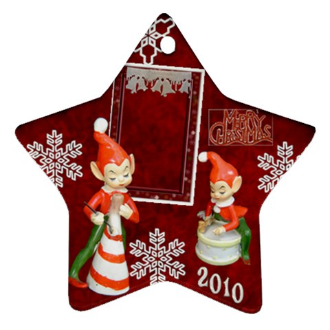 Elf Elves Bells 2010 Ornament  130 By Ellan   Ornament (star)   Rpzg7wlu1utw   Www Artscow Com Front
