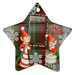 elf elves bells 2010 ornament  132 - Ornament (Star)