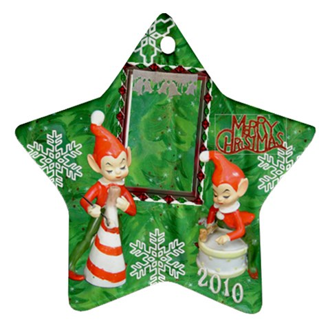 Elf Elves Bells 2010 Ornament  133 By Ellan   Ornament (star)   2bo081jnlq3a   Www Artscow Com Front