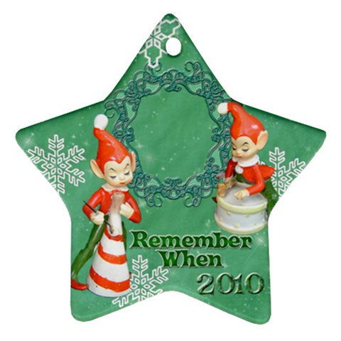 Elf Elves Bells Remember When 2010 Ornament  135 By Ellan   Ornament (star)   4xv5jd6hskqe   Www Artscow Com Front