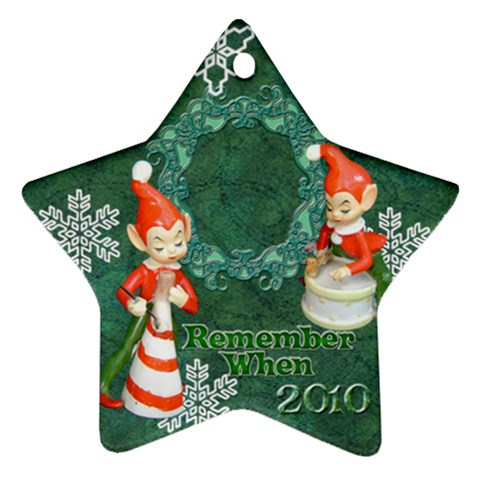 Elf Elves Bells Remember When 2010 Ornament  136 By Ellan   Ornament (star)   7hgtlptp8qj8   Www Artscow Com Front
