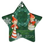 elf elves bells remember when 2010 ornament  136 - Ornament (Star)