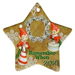 elf elves bells remember when 2010 ornament  137 - Ornament (Star)
