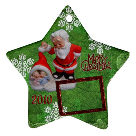 Santa Baby Angels Merry Christmas 2010 Ornament  140 By Ellan   Ornament (star)   C7dj6rb30nyq   Www Artscow Com Front