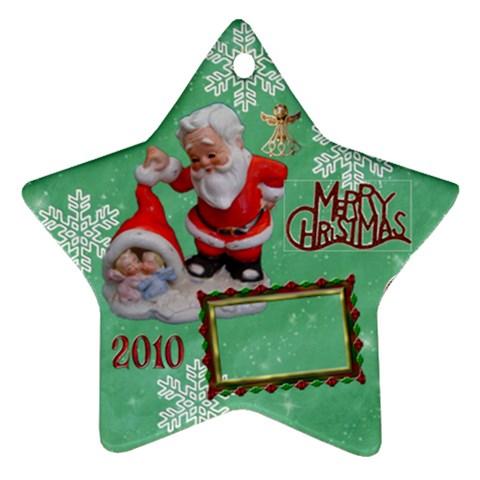 Santa Baby Angels Merry Christmas 2010 Ornament  142 By Ellan   Ornament (star)   Qsd9yzaeoxx5   Www Artscow Com Front