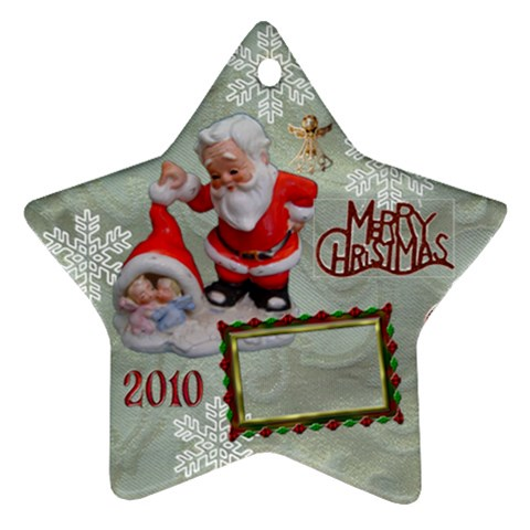 Santa Baby Angels Merry Christmas 2010 Ornament  143 By Ellan   Ornament (star)   Dkj6761datka   Www Artscow Com Front